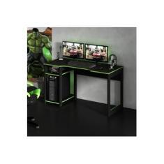 Mesa Gamer Cyber Tecno Mobili Preto/Verde