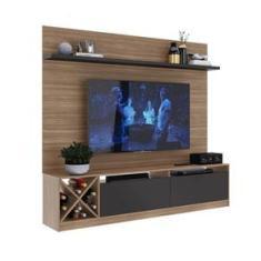 Imagem de Rack Com Painel Tv 50´´ 2 Portas Montana E Grafite