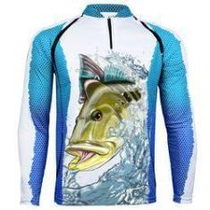 Imagem de Camiseta De Pesca King Proteção Solar Uv Kff57 - Tucunaré