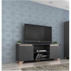 Imagem de Rack para TV até 50 Polegadas 2 portas 2031 Grafite/Siena - Quiditá