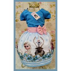 Imagem de Vestido Infantil tema Princesa Gelo
