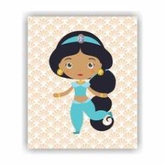Imagem de Quadro Decorativo Tema Princesas 23x19cm QDLPR03