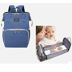 Imagem de Bolsa Maternidade 2 Em 1 Vira Cama Berço P Trocar E Mochila