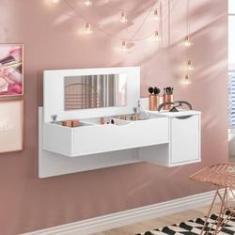 Imagem de Penteadeira Suspensa Camarim Blush com 2 Portas e Espelho