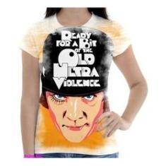 Imagem de Camiseta Camisa Feminina Orange Laranja Mecanica 7