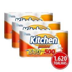 Imagem de Kit Papel Toalha Folha Dupla Kitchen Jumbo 1.620 Folhas Promoção