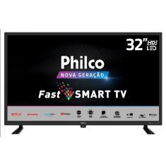 "Smart TV LED 32"" Philco PTV32D10N5SKH 2 HDMI LAN (Rede) USB"