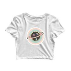 Imagem de Blusa Cropped Blusinha Camiseta Tshirt Planeta