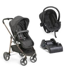 Imagem de Carrinho de Bebê Olympus com Bebê Conforto e Base Galzerano