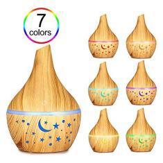 Aibecy Difusor de aroma 300ML Aromaterapia Difusor de óleo essencial com 7 cores Led Night Light Air umidificador purificador Mist Maker para casa e escritório