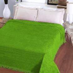 Imagem de Colcha Chenille Jolitex Com Franja Lisa 2,20x2,40m Verde