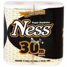 Imagem de Papel Higiênico Ness Folha Dupla Neutro Fardo Com 64 Rolos