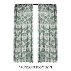 Imagem de Loijon Cortinas semi-blackout para cortinas de cortina estampadas com isolamento térmico para quartos Decoração de casa para sala de estar (2 painéis, 55 '' x 102 '' L)