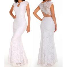 Imagem de Vestido Longo Casamento Noiva De Renda Pre Wedding