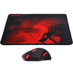 Imagem de Kit Gamer Redragon MousePad e Mouse Centrophorus M601-BA