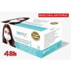 Imagem de 50 Máscaras  Biotex cirurgica descartável tripla