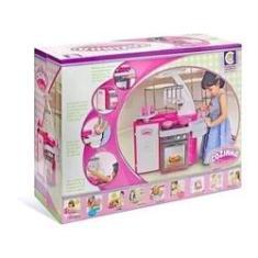 Imagem de Brinquedo Infantil Cozinha Classic Fogão Pia Geladeira