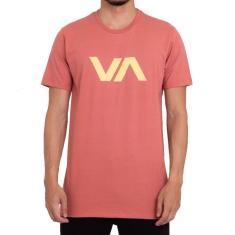 Imagem de Camiseta RVCA VA Masculina Laranja Claro