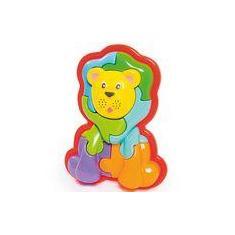 Imagem de Brinquedo Animal Puzzle 3D Leão 853 - Calesita