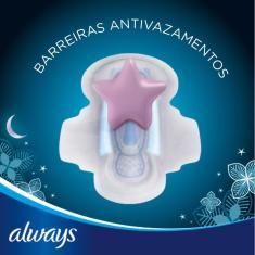 Imagem de Absorvente Always Noites Tranquilas Seca Com Abas C/ 10 unidades 40cm
