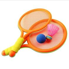 COOFIT Conjunto De Raquete Infantil Pequeno Antiderrapante Elástico Casual Interativo Para Crianças Engraçado Jogo De Badminton Raquete De Badminton Com Bola