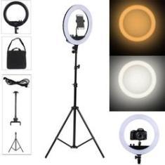Imagem de Iluminação Ring Light 45cm 18 Polegadas Tripé Aço 2m Suporte Celular