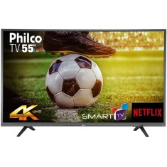"Smart TV TV LED 55"" Philco 4K Netflix PTV55U21DSWNT 3 HDMI"