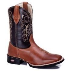 Imagem de Bota Country Masculina Bico Quadrado Texana 223