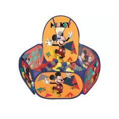 Imagem de Piscina De Bolinha Infantil Cesta Original Mickey Mouse Com 100 Bolinhas Coloridas