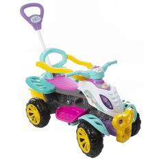Imagem de Carrinho de Passeio Infantil Quadriciclo Com Empurrador Menina