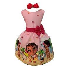 Imagem de Vestido Infantil Temático Moana Baby Luxo