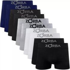 Imagem de Kit 6 Cuecas Boxer Algodão Zorba Sem Costura Seamless Adulto