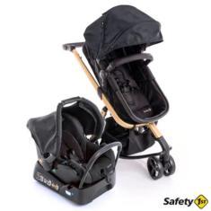 Imagem de Carrinho de Bebê Travel System com Bebê Conforto Safety Mobi Trio CAX00486