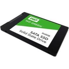 Imagem de SSD Wd Green 2.5´ 240Gb SATA IIi 6Gb/S Leituras. 545Mb/S e Gravações. 465Mb/S - Wds240G2G0A