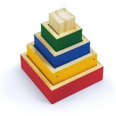Imagem de Torre De Aprendizagem Cubos De Encaixe Infantil Didático
