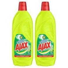 Kit Com 2 Limpador Diluível Ajax Fresh Lemon 1L Cada