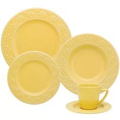Aparelho de Jantar Redondo de Cerâmica 30 peças - Mendi Sicília Oxford Porcelanas