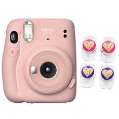Câmera instantânea Fujifilm Instax Mini 11 Rosa + Clip magnético