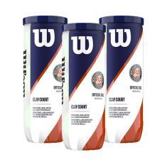 Bola De Tênis Roland Garros Clay Pack C/ 3 Tubos - Wilson