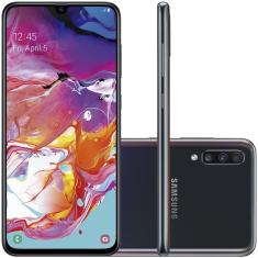 Smartphone Samsung Galaxy A70 128GB Qualcomm Snapdragon 675 32,0 MP 2 Chips Android 9.0 (Pie) 3G 4G Wi-Fi