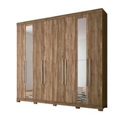 Guarda-Roupa Casal 8 Portas 4 Gavetas com Espelho Havana Master Vip 8.4 Santos Andirá