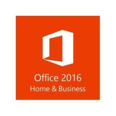 Microsoft Office 2016 Home And Business 32/64 Bits FPP - Cartão Chave