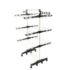 Imagem de Varal De Chão Vertical 3 Níveis Equivalente A 10M Lineares
