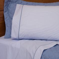Imagem de jogo de cama queen scavone 200 fios 100% algodão básico stripes