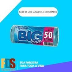 Imagem de Sacos para Lixo  BIGROLL 63x80 - 50 Litros (40 unidades)