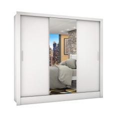 Guarda-Roupa Casal 3 Portas com Espelho Porto Plus Siena Móveis