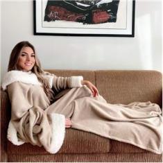 Imagem de Cobertor de Mangas com Sherpa Comfort Premium Casa Dona