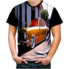 Imagem de C1 Camiseta Personalizada Carro Antigo Opala Laranja 001 Hd,