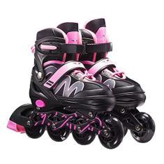 Imagem de BUNRUN Patins masculinos e femininos ajustáveis em linha para adultos, patins de ginástica para meninos e meninas iniciantes