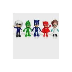 Imagem de Kit 5 Mini Bonecos Pj Masks Com Menino Gato - Promoção